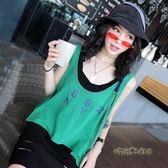 Ccqueen女裝2019新款夏季外搭ifashion帥氣港味寬鬆高腰外穿背心「時尚彩虹屋」