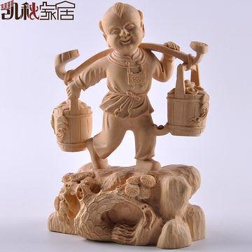 黃楊木雕刻工藝禮品風水招財擺件