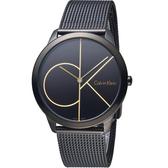 Calvin Klein minimal  大 ck 簡約時尚腕錶  K3M214X1
