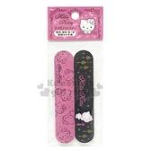 〔小禮堂〕Hello Kitty 海棉指甲銼刀組《2入.黑粉.眨眼》指甲保養.美甲.銅板小物 4589932-60513