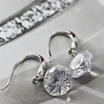 耳環 925純銀鑲鑽-極光閃耀生日情人節禮物女飾品73ia6[時尚巴黎]