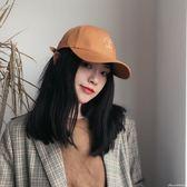 抽象刺繡休閒美式棒球帽子青年春夏街頭彎檐遮陽鴨舌帽男女