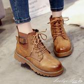 靴子 INS馬丁靴女英倫風短筒冬季女鞋學生百搭網紅CHIC短靴子瑪麗蓮安