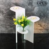 OPUS 歐式鐵藝-燭座瓶插/香氛蠟燭燭台(生命之樹_白)