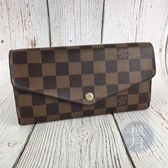 BRAND楓月 LOUIS VUITTON LV 路易威登 N60114 棕色 咖啡色 經典 棋盤格 長夾 錢包 錢夾