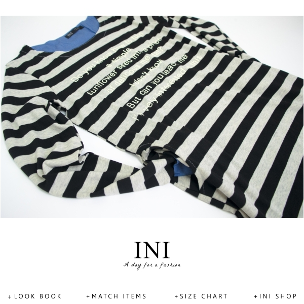 【INI】休閒氛圍、彈力舒適感橫條口袋長版上衣.黑色