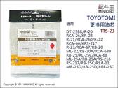 日本代購 空運 TOYOTOMI 煤油暖爐 TTS-23 更換用油芯 適用 RB-25D RB-25E
