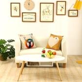 臥室小沙發小型客廳網吧網咖迷你單人沙發椅雙人布藝小戶型沙發  YDL