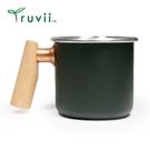 丹大戶外【Truvii】400ml 木柄白鐵杯-黑夜 杯子│馬克杯│咖啡杯│茶杯│水杯