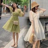 洋氣孕婦裝夏天裙子夏裝時尚網紅潮辣媽個性小清新孕婦洋裝夏季 滿天星