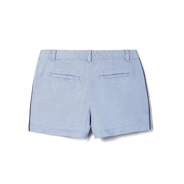 Gap女裝 純色直筒休閒短褲 466937-淺藍色