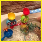 全館83折 寶寶洗澡玩具轉轉樂嬰兒童玩水水龍頭噴水花灑男孩女孩浴室戲水