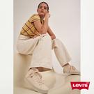 Levis 女款 Ribcage 復古超高腰落地闊腿寬褲 / 排釦牛仔褲 / 無彈性