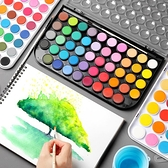 固體水彩 美術專業初學者兒童學生手繪畫畫36色固體水彩顏料 夢藝家
