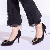 溫情鹿高跟鞋新款反絨職業女鞋韓版細跟女鞋尖頭淺口性感單鞋