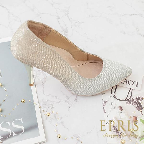 現貨 夢幻尖頭細跟 MIT品牌高跟鞋 婚鞋推薦 奇幻女神 版型偏小 21.5-25.5 EPRIS艾佩絲-漸層金