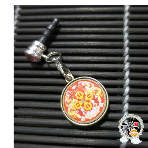 十字杵(不丹國徽)手機掛飾  +十相自在貼紙 【十方佛教文物】