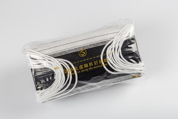 【雙鋼印】鉅瑋醫療口罩(未滅菌),50片/盒,夜幕黑,黑色成人口罩,通過重金屬及偶氮色料檢驗