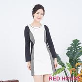RED HOUSE-蕾赫斯-剪接設計洋裝(白色)