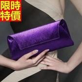 真皮手拿包-細膩皮紋典雅包型女信封包6色68k8【巴黎精品】