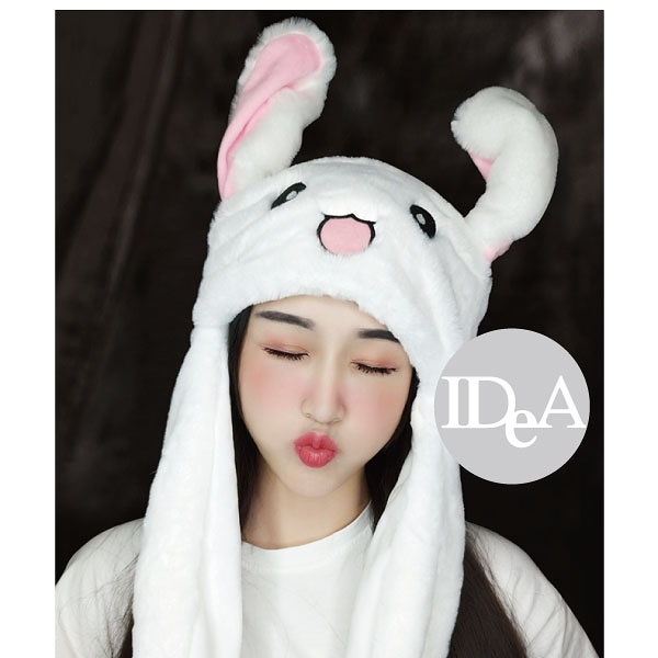IDEA 現貨 兔子耳朵帽 抖音 韓國 保暖 可愛 禮物 耳朵會動 女生帽子 毛絨 兒童 萬聖 會動