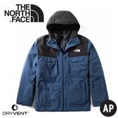 【The North Face 美國 男 DryVent兩件式 防水化纖雪衣外套《藍》】3M4M/防風外套/保暖外套