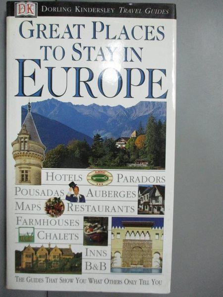 【書寶二手書T1/旅遊_GQR】Great Places To Stay In Europe