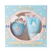 正版授權 Sanrio 山姆企鵝 甜點系香氛保濕造型 護唇膏護手霜禮盒組 櫻桃香味 COCOS SS199