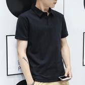 POLO短衫男士短袖T恤??血小微領POLO衫夏季紐扣體?【快速出貨】