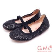G.Ms. *童鞋-璀璨亮片鬆緊口可攜式娃娃鞋(附鞋袋)*焦點黑