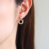 [現貨] itam 日本製 雙圓珍珠耳環/耳夾 (NP420)