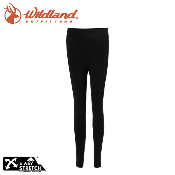 【Wildland 荒野 中性 收腿收腹提臀壓力褲《黑》】W2659/機能褲/內搭褲/束褲/緊身褲