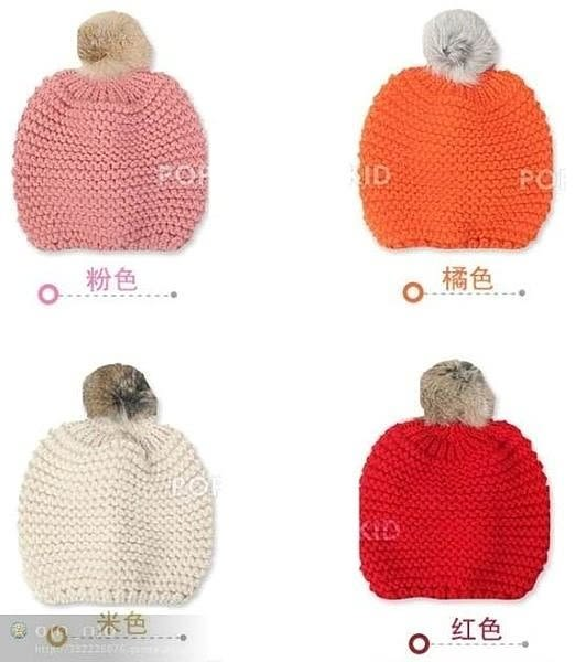 【發現。好貨】韓國兒童兔毛球護耳帽 保暖針織帽 寶寶帽 嬰幼兒帽