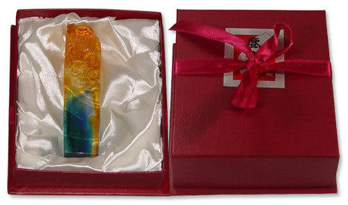 鹿港窯-居家開運水晶琉璃吉祥印章【壽翁】附精美包裝◆免運費送到家