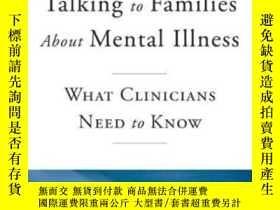二手書博民逛書店Talking罕見To Families About Menta