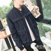2018新款男士季休閑個性韓版外套帥氣夾克學生修身衣服潮流男裝-奇幻樂園