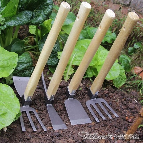 鋤草神器 兩用開荒木柄小鋤頭園藝農具挖筍工具種花種菜挖土家用耙子
