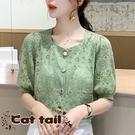 《貓尾巴》ZC-0076 韓版氣質款泡泡...