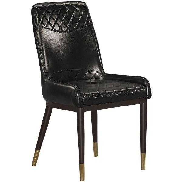 餐椅 QW-715-16 遙程黑色皮餐椅【大眾家居舘】
