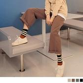 《BA5976-》純色高含棉休閒修身遮肉腰鬆緊直筒長寬褲 OB嚴選