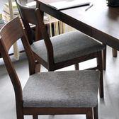 【這家子家居】時光實木餐椅 餐桌 書桌/會議桌/辦公桌//咖啡廳 (胡桃色)【C0218】