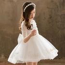 女童禮服 女童公主裙蓬蓬紗禮服女寶春裝正韓白色演出小童兒童裙子夏款洋氣-Ballet朵朵