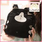 手提包~Le Baobab日系貓咪包 啵啵貓黑貓經典款式小手提包/肩背包/側背包/拼布包包