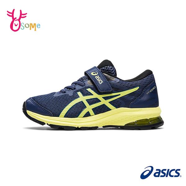 ASICS童鞋 男童慢跑鞋 GT-1000 10 PS 經典款跑步鞋 魔鬼氈慢跑鞋 亞瑟膠 運動鞋 亞瑟士 D9100#藍黃