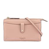 【KATE SPADE】荔枝紋皮革皮夾式斜背包(粉色) WLRU5470 265