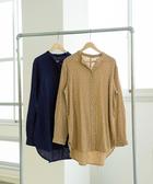 出清 印花 小碎花襯衫 束腰罩衫 雙層棉紗  日本品牌【coen】