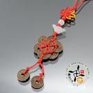 梅花錢(小)中國結手機吊飾 + 平安小佛卡【十方佛教文物】