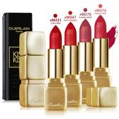 Guerlain嬌蘭 KISSKISS 法式之吻華麗絲霧唇膏#M375 FLAMING ROSE(3.5g)