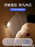 小夜燈無線智能人體感應燈起夜家用過道LED床頭小夜燈臥室睡眠充電光控 迷你屋