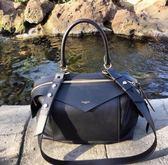 ■2018春夏新品 專櫃65折 ■ 全新真品Givenchy BB50156 中款 Sway 小牛皮兩用包 黑色